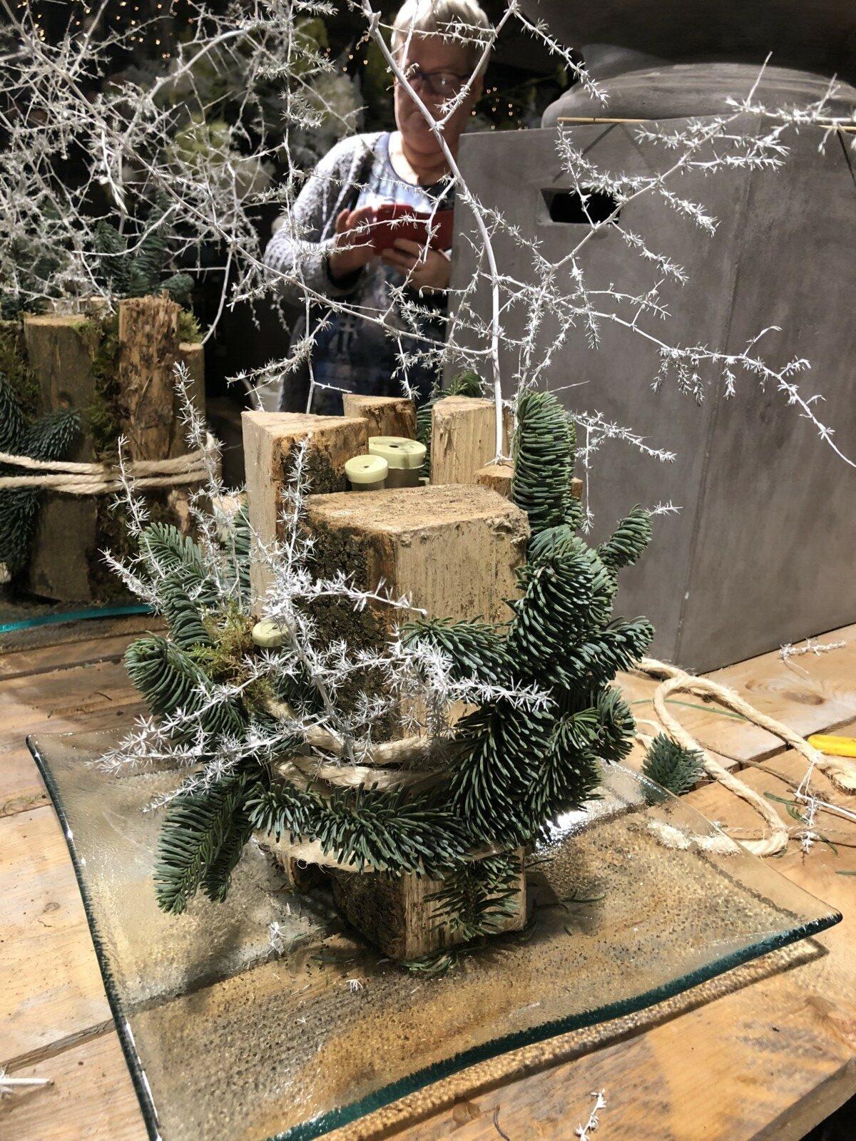 Workshop kerststukje maken
